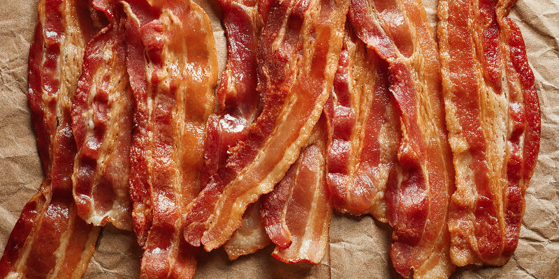 Steka bacon i ugn